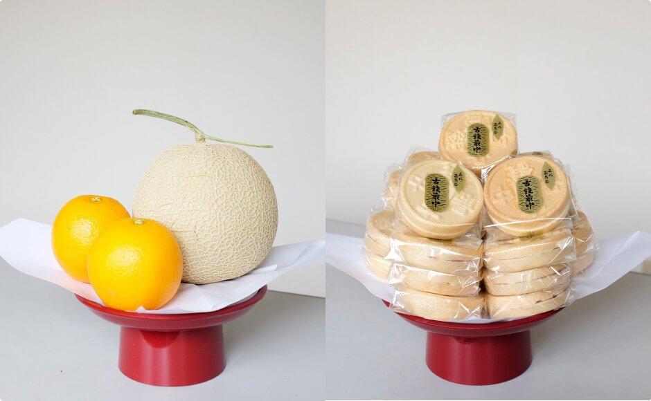 菓子・果物一式